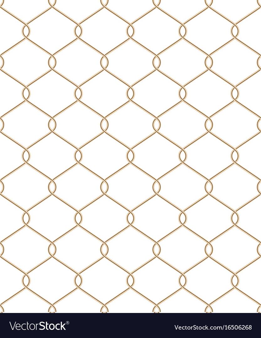 Golden wire seamless mesh eps 10