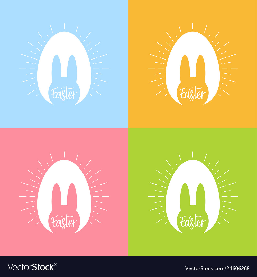 Happy easter day bunny easter celebration poster