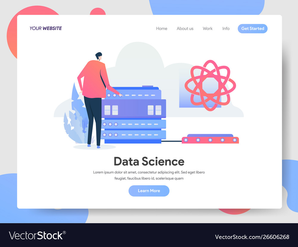 Landing page template data science concept