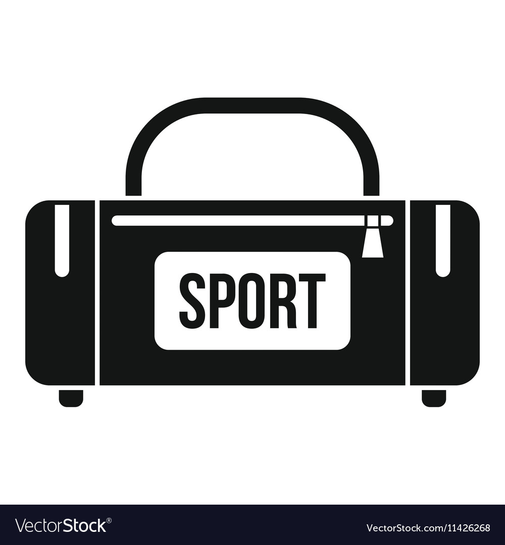 Large sports bag icon simple style