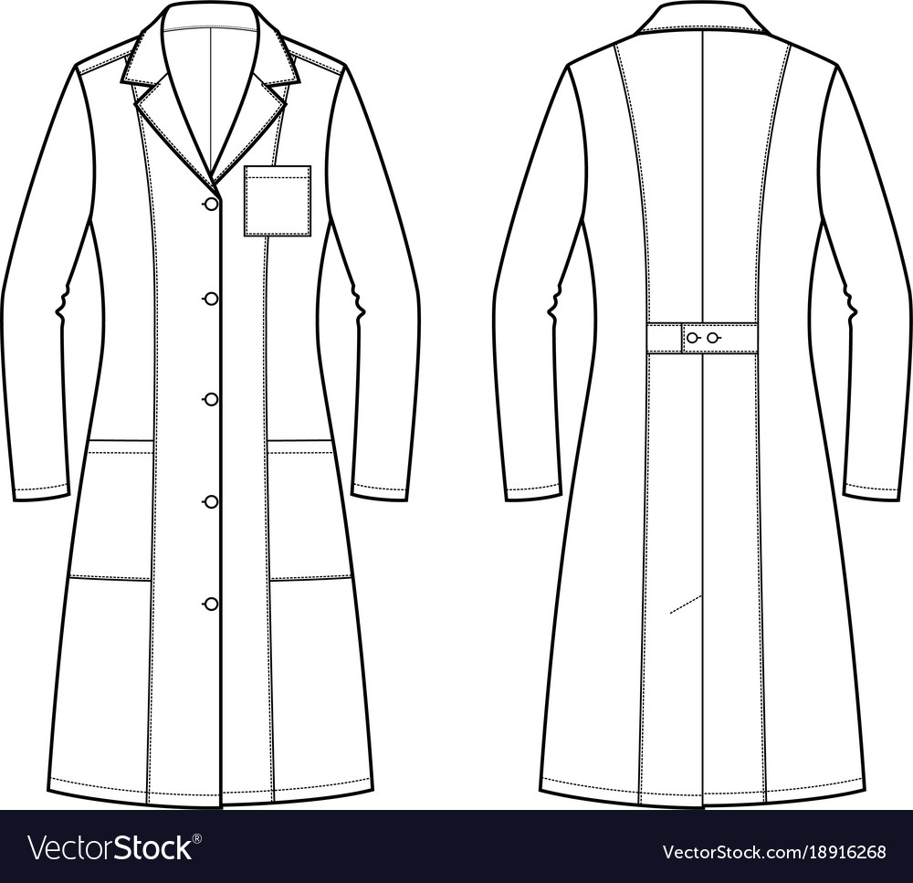 Medical gown Royalty Free Vector Image - VectorStock