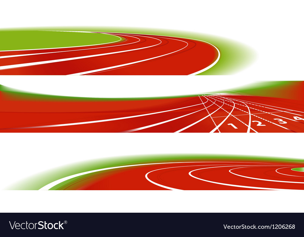 Sport athletic banners vector image