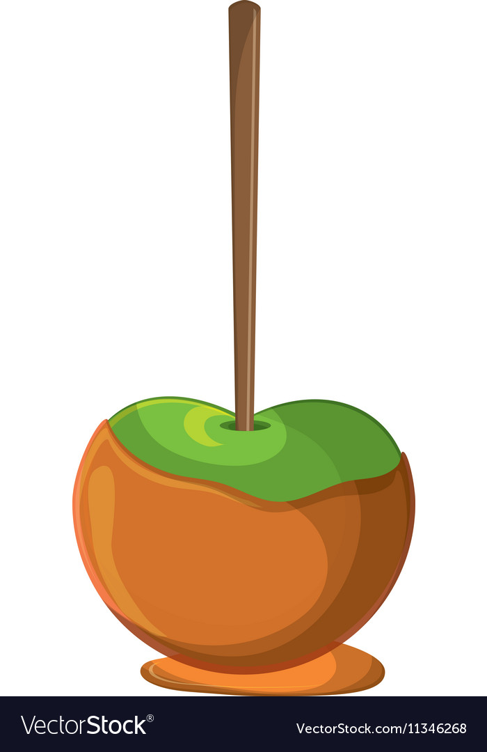 Sweet apple of fair food design vector image
