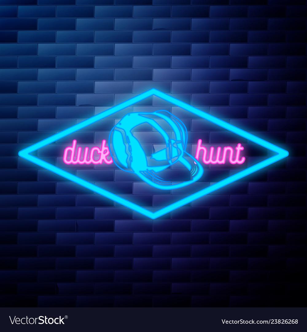 Vintage dental emblem glowing neon sign on brick