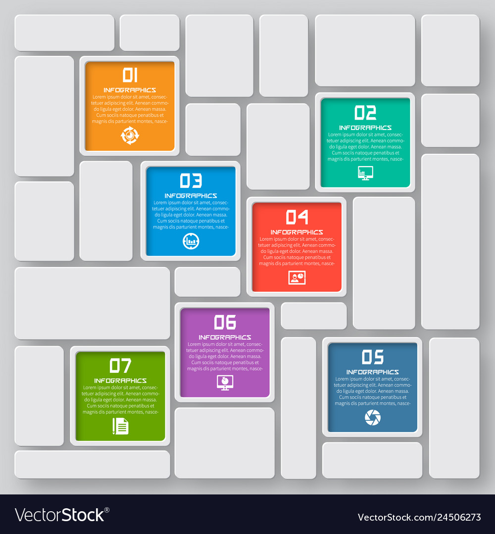 Abstract 3d paper infographics business template