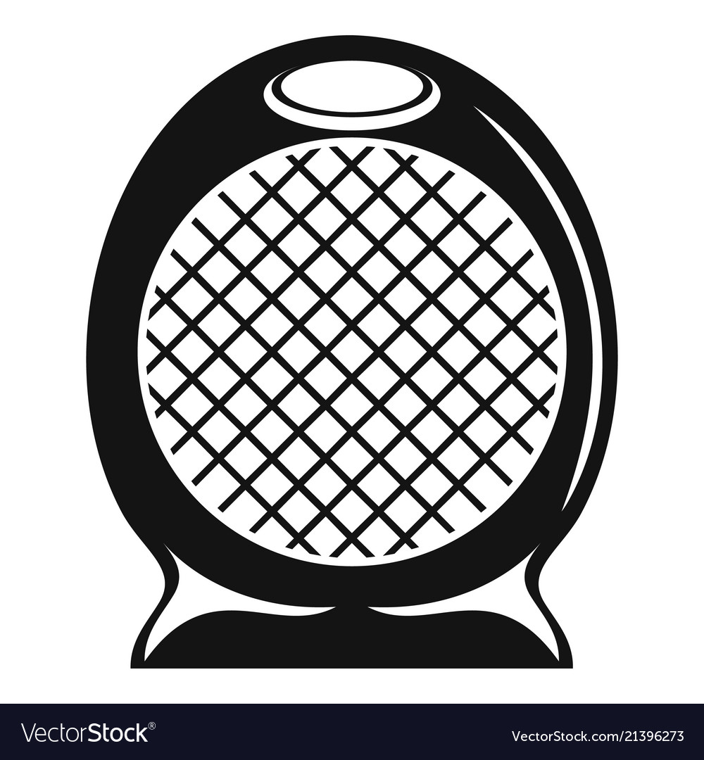 Home air heater fan icon simple style