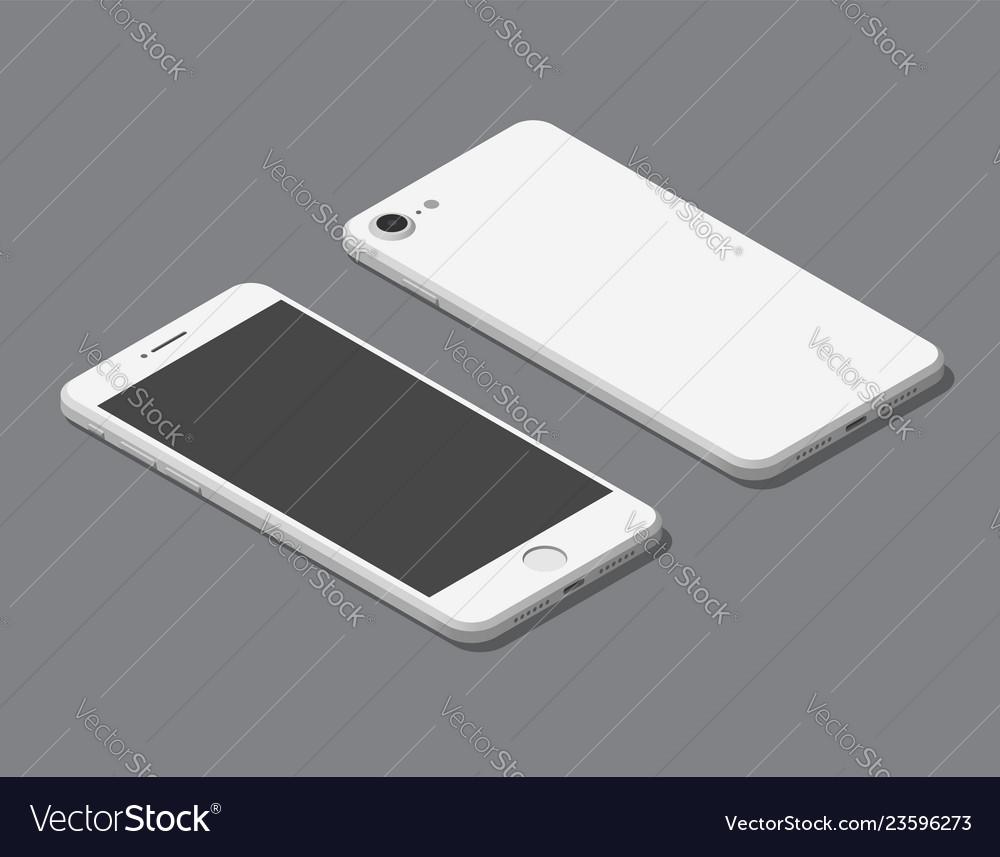 Isometric flat smartphone mockup
