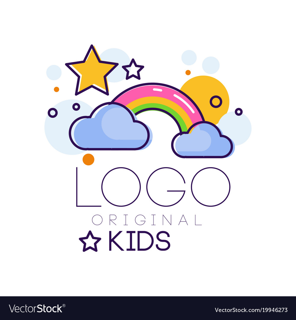 Logo kids creative concept template design