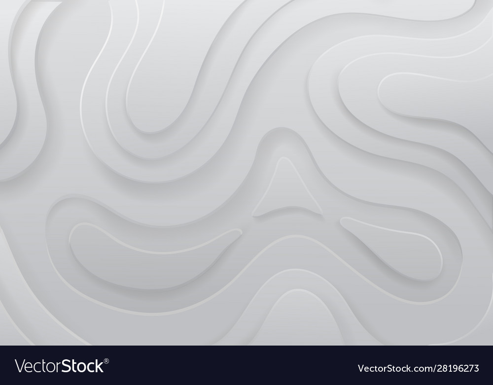 Paper cut white clean topographic background