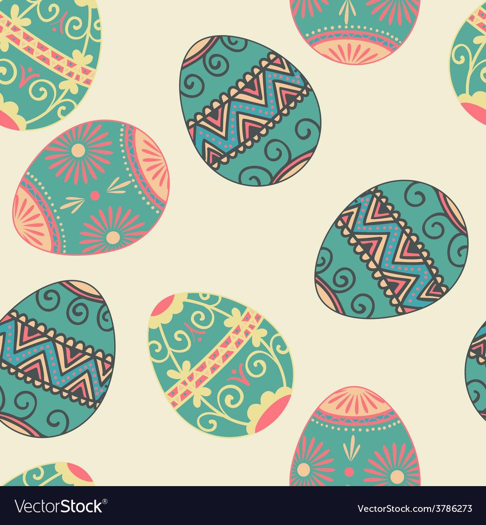 Seamless Easter eggs pattern Elegant