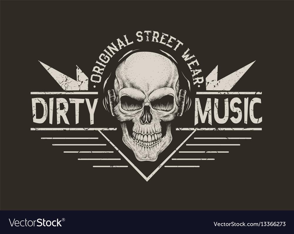 Skull in headphonesprints design
