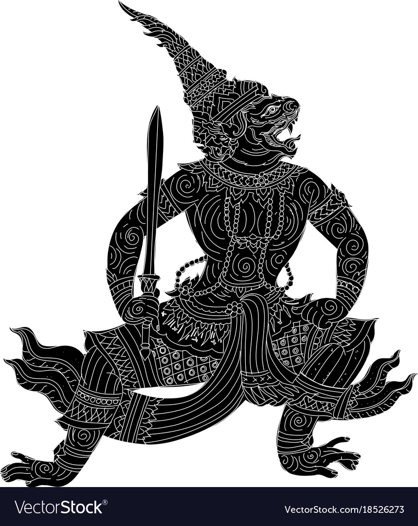 Thai traditioal painting vector image
