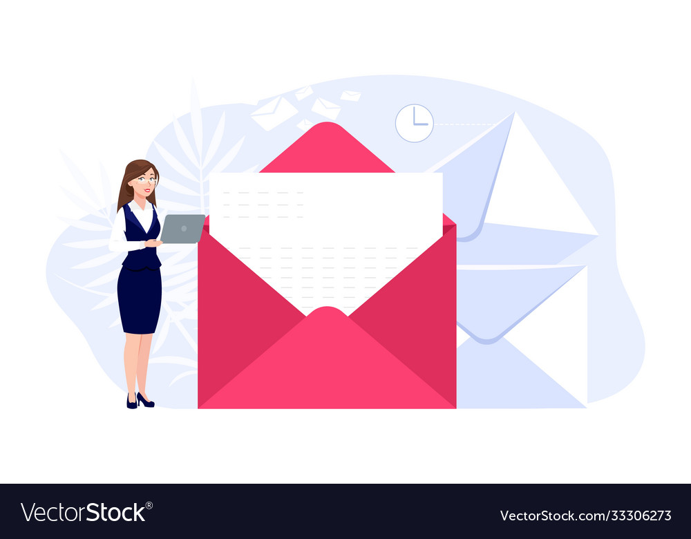 Woman and mail email messaging girl