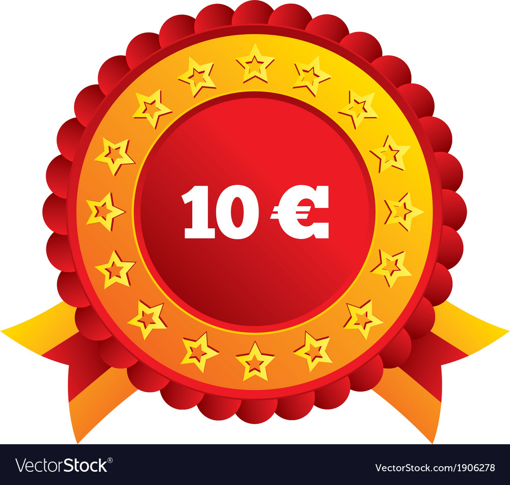 10 Euro sign icon EUR currency symbol vector image