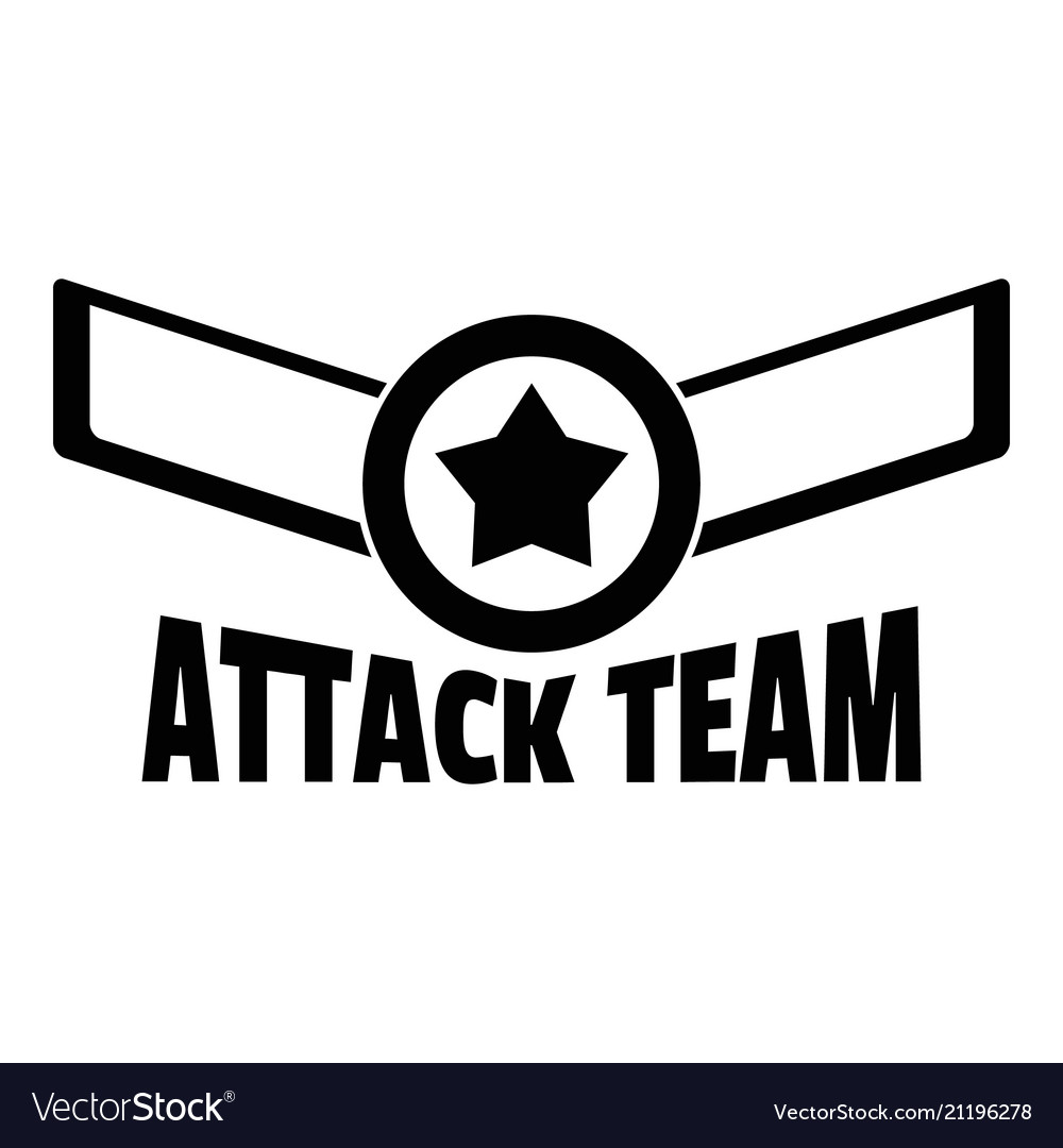 Attack star team logo simple style