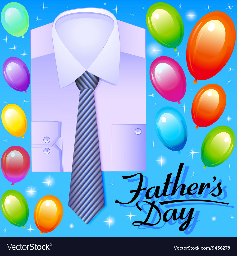 Card for fathers day with balloons
