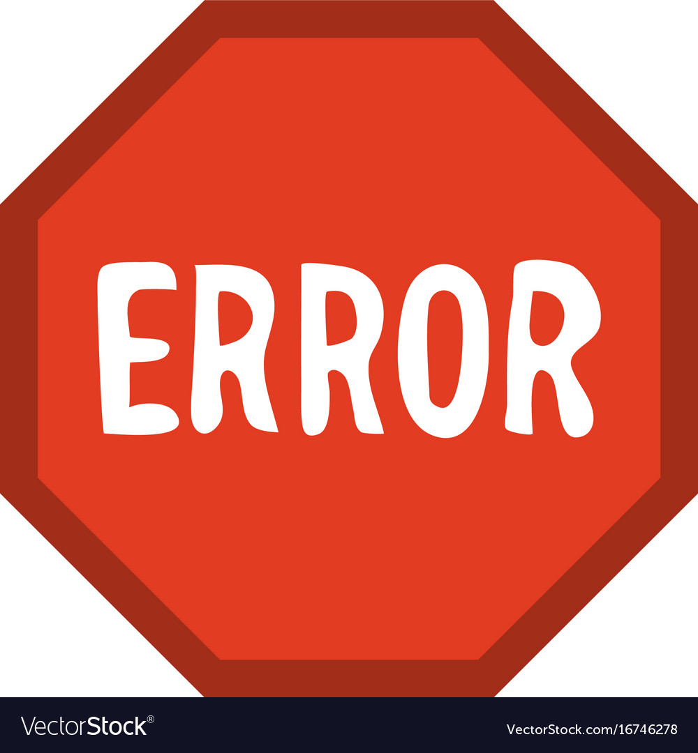 Icons Trading Error Log: Error Sign Icon Image Royalty Free Vector Image