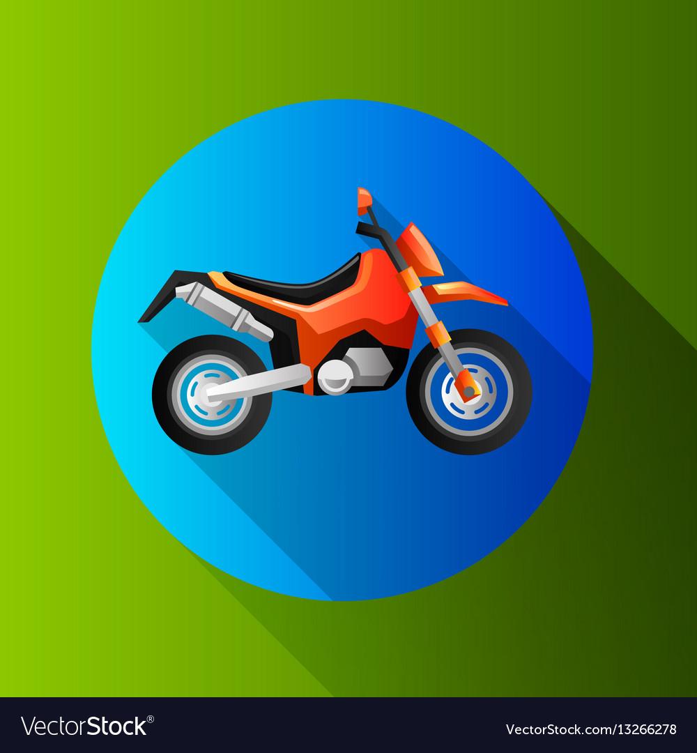 Flat design moto icons