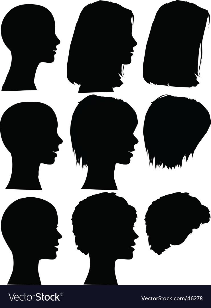 Hair style beauty salon profiles vector image