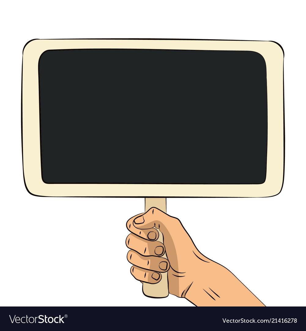 Hand drawn wooden chalkboard