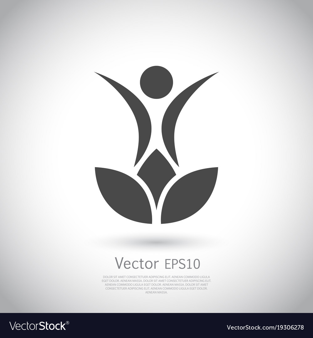 Lotus Flower Yoga Logo Design Royalty Free Vector Image
