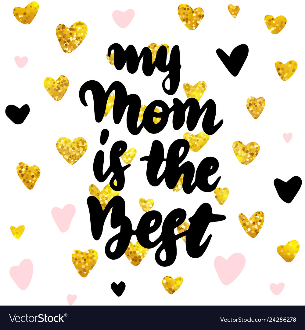 My mom best postcard design