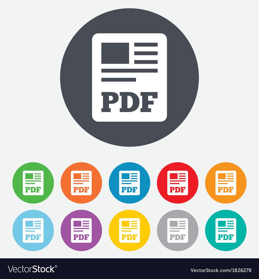 PDF file document icon Download pdf button