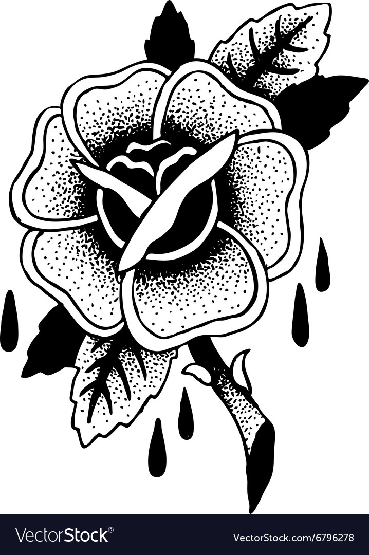 Roses Tattoo Sketch Royalty Free Vector Image Vectorstock