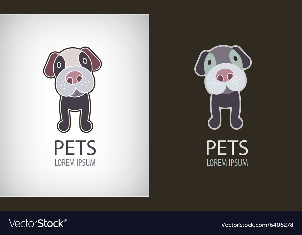 Set of funny cartoon dog logo icon