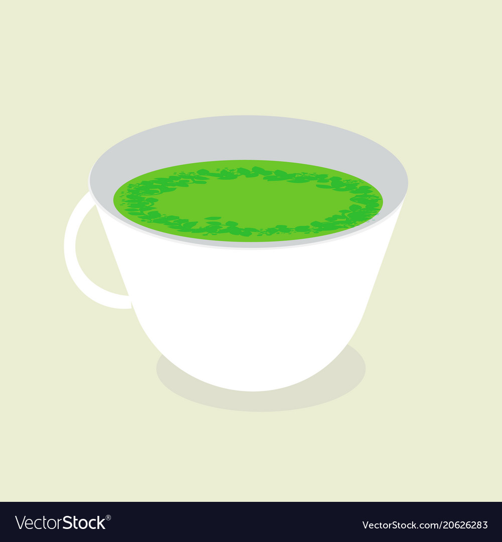 A cup of health green tea vector image
