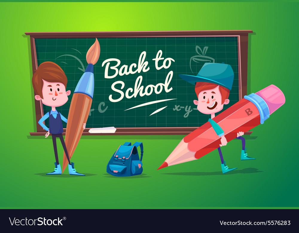 Back to school Cute schoolchild at a lesson near