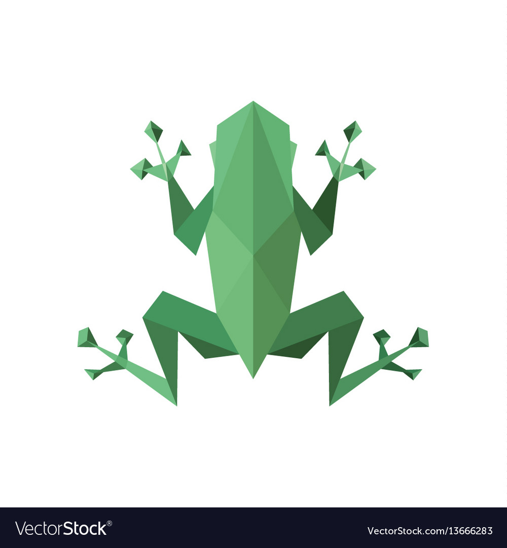 Frog polygon low poly faces sharp
