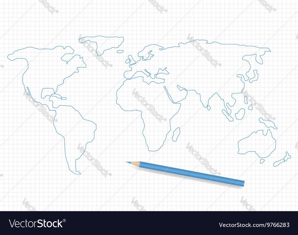 Hand drawn world map royalty free vector image hand drawn world map vector image gumiabroncs Images