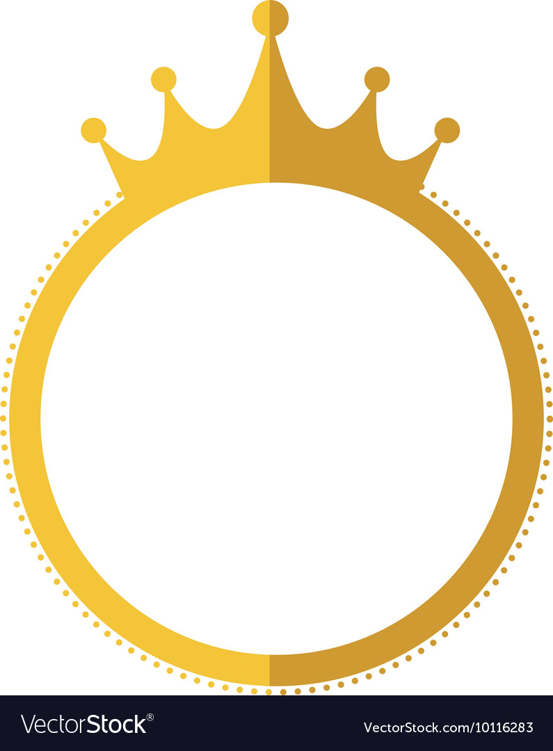 Seal Stamp Crown Gold Label Banner Icon Vector Image
