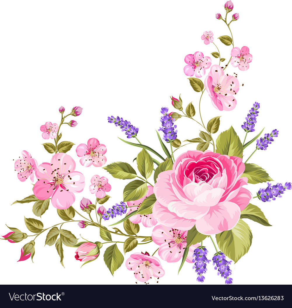 Spring flowers garland royalty free vector image spring flowers garland vector image mightylinksfo