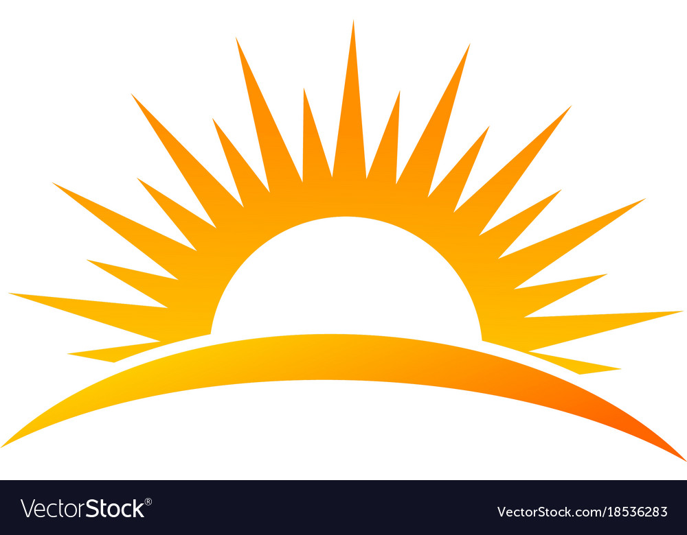 sun rise logo royalty free vector image vectorstock