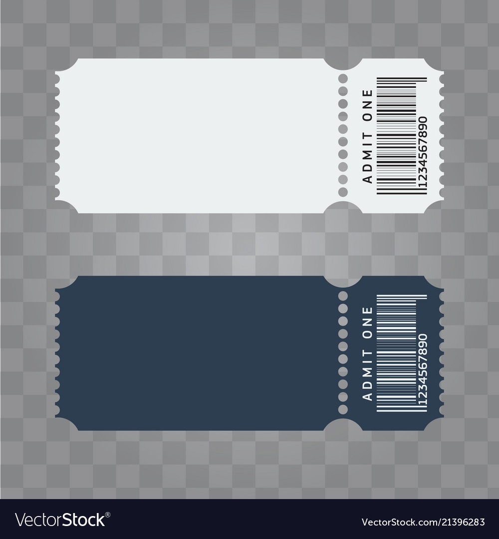ticket template design trendy blank ticket vector image