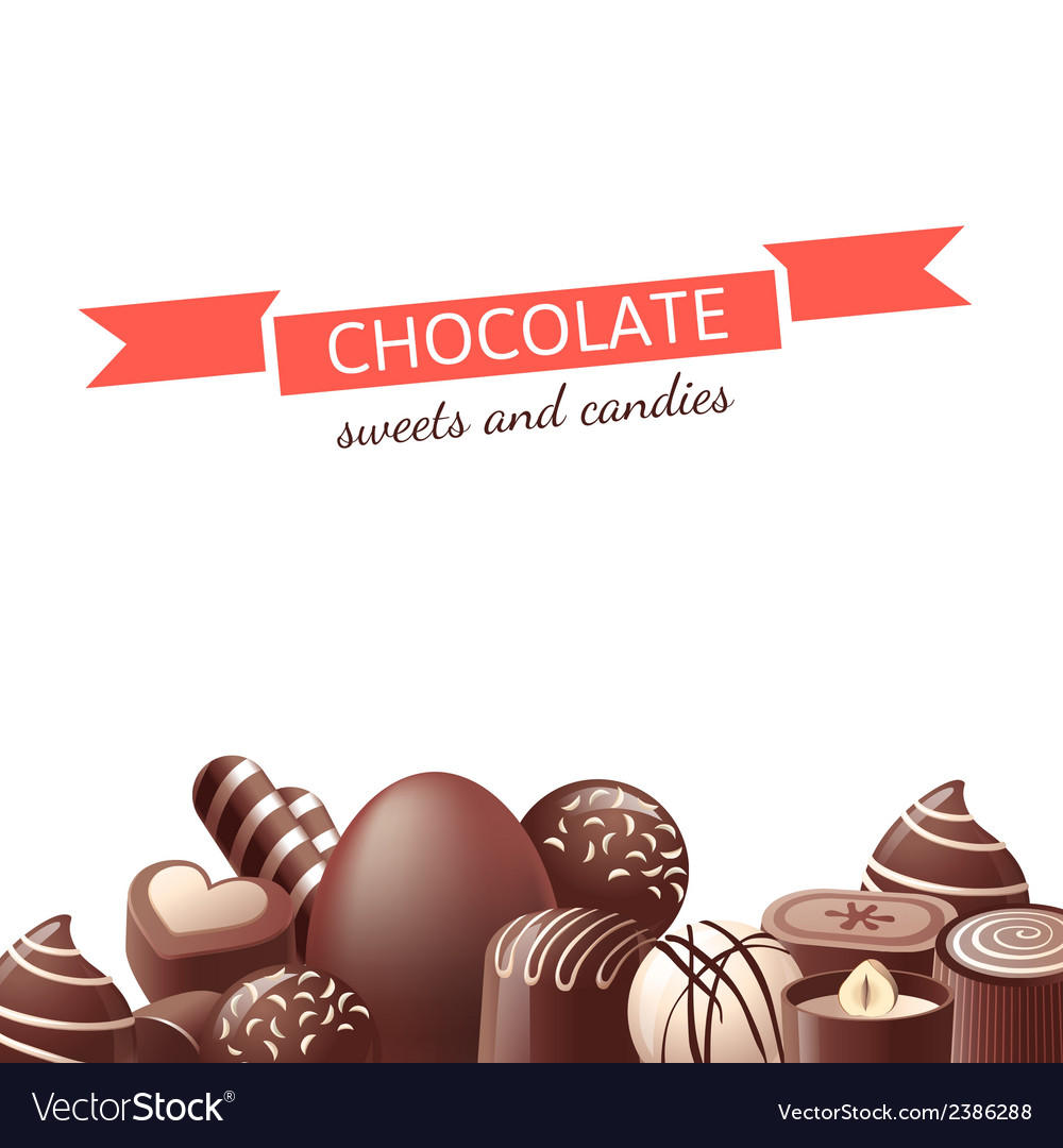 Chocolate sweets and candies vector image