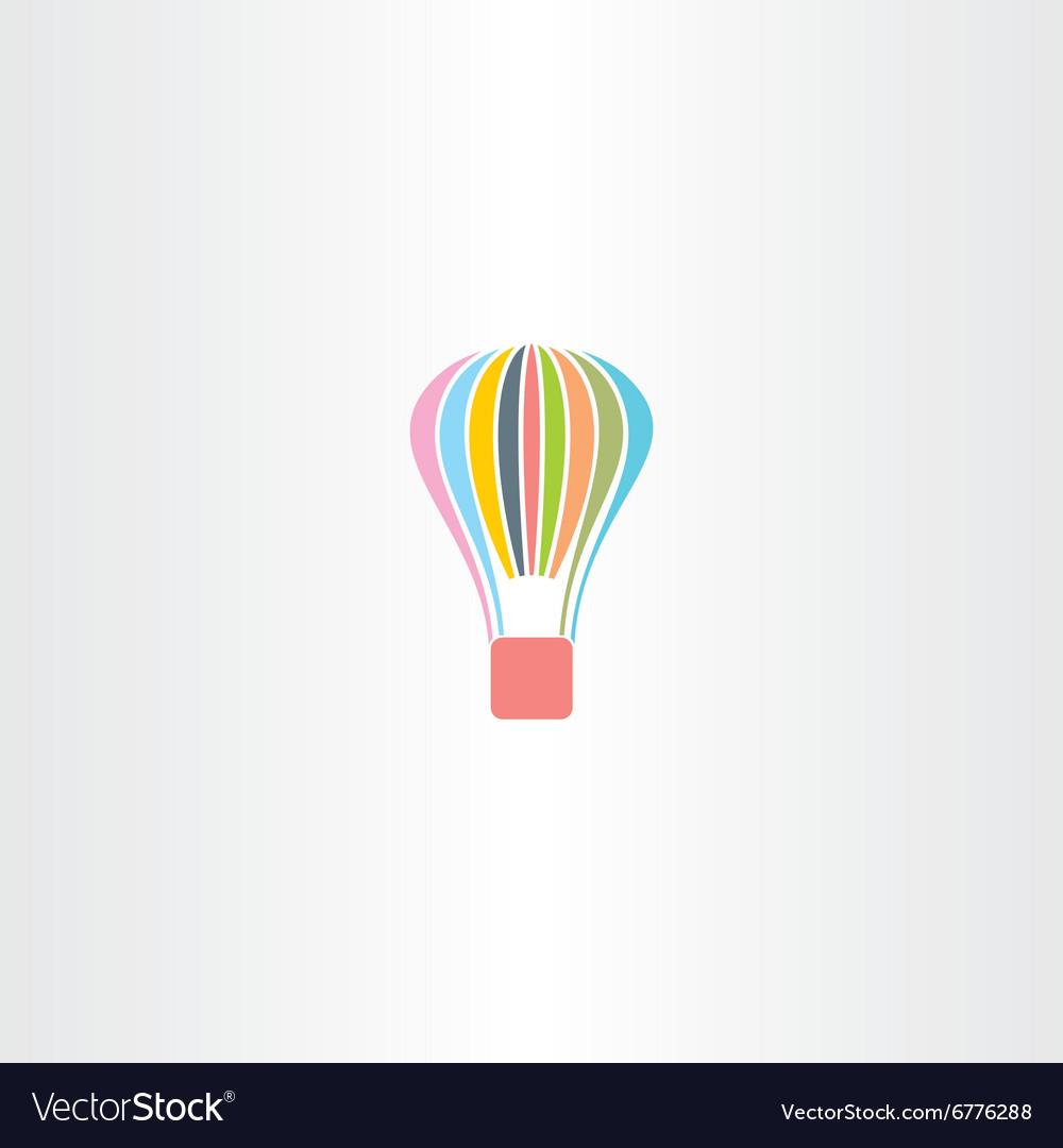 Colorful parachute logo icon