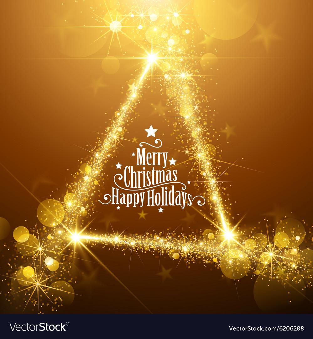 Gold Christmas Stars vector image