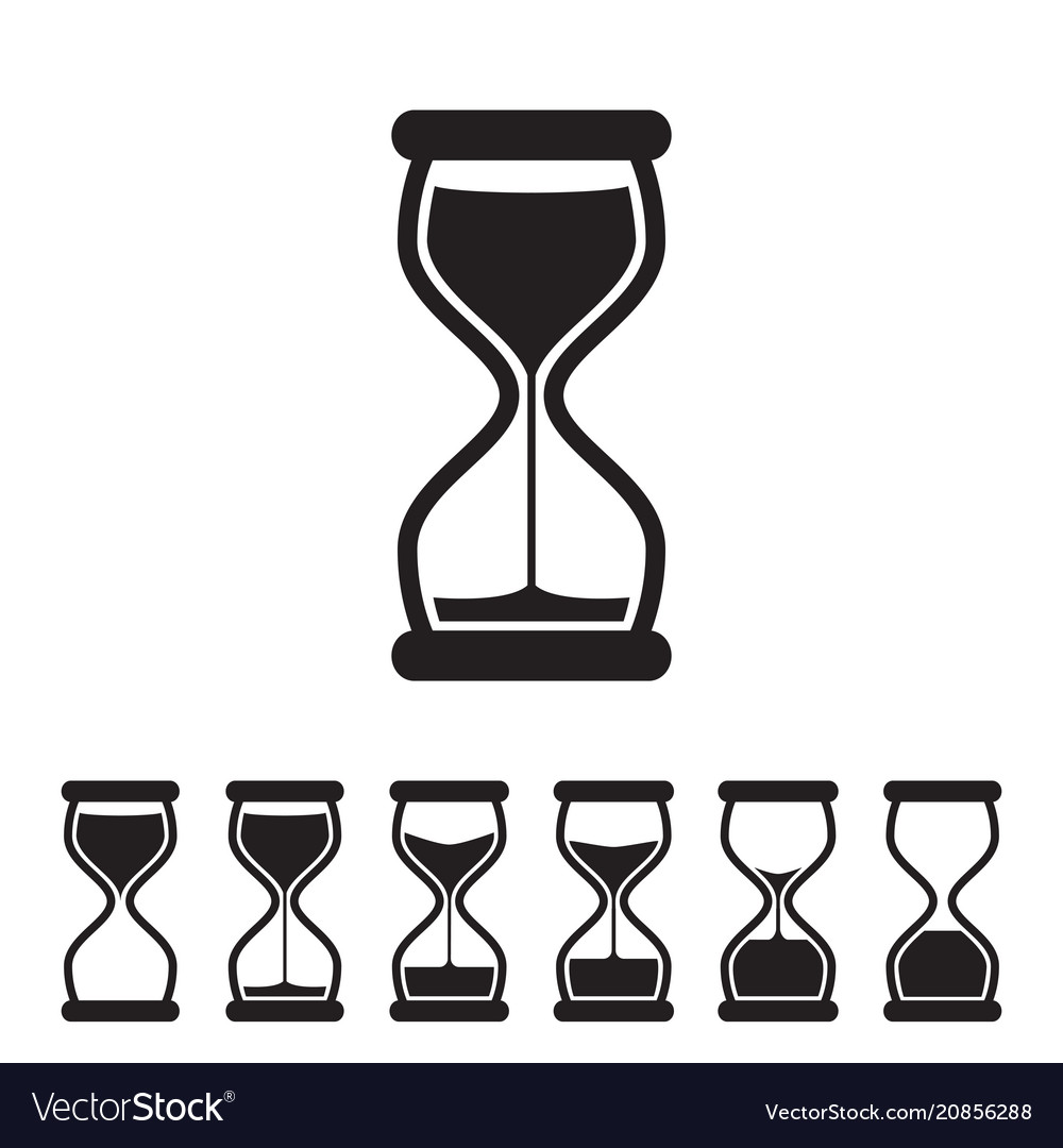 Hourglass collection vector image