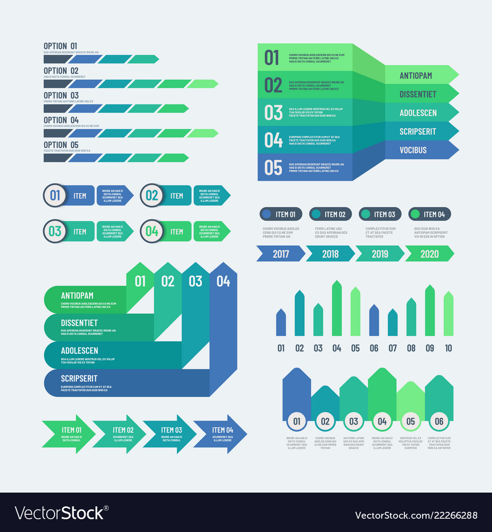 Infographic elements modern graphs investment