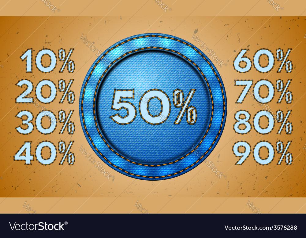 Jeans sale percent label