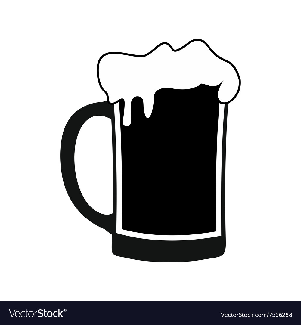 Mug of beer black simple icon