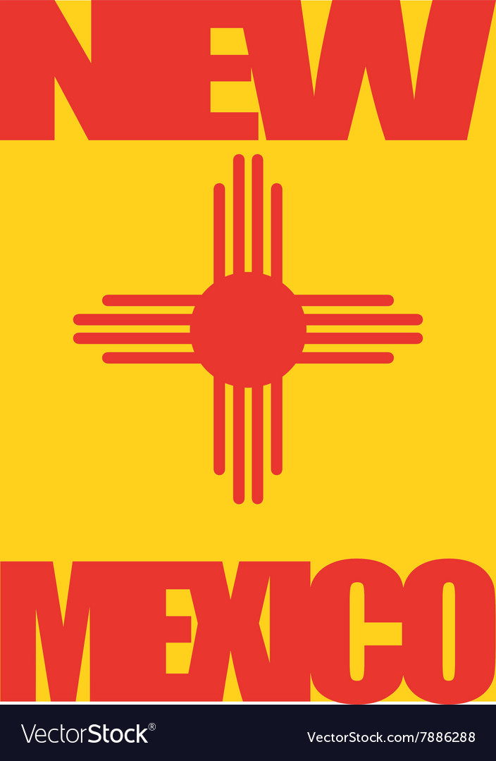 New mexico state flag vector image