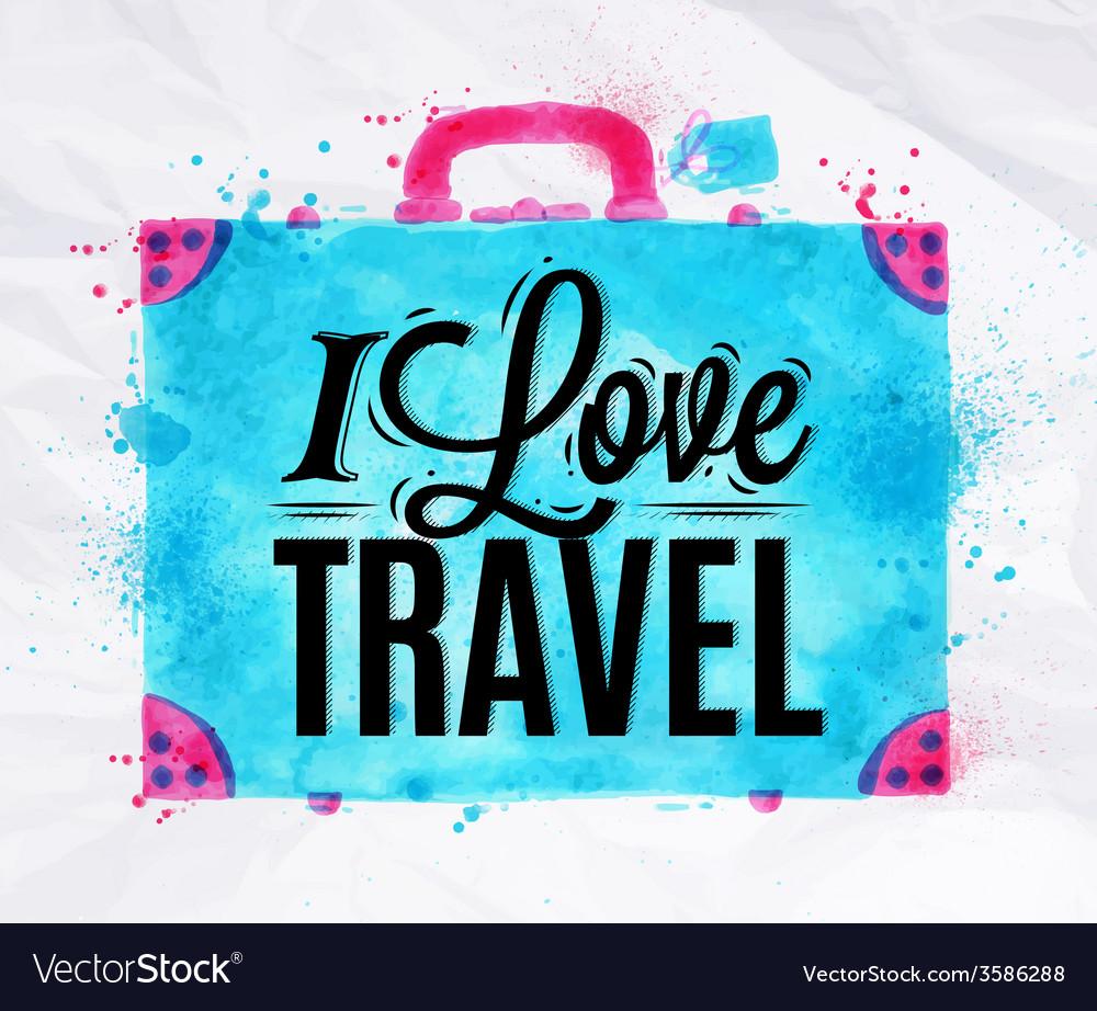 Suitcase watercolors travel