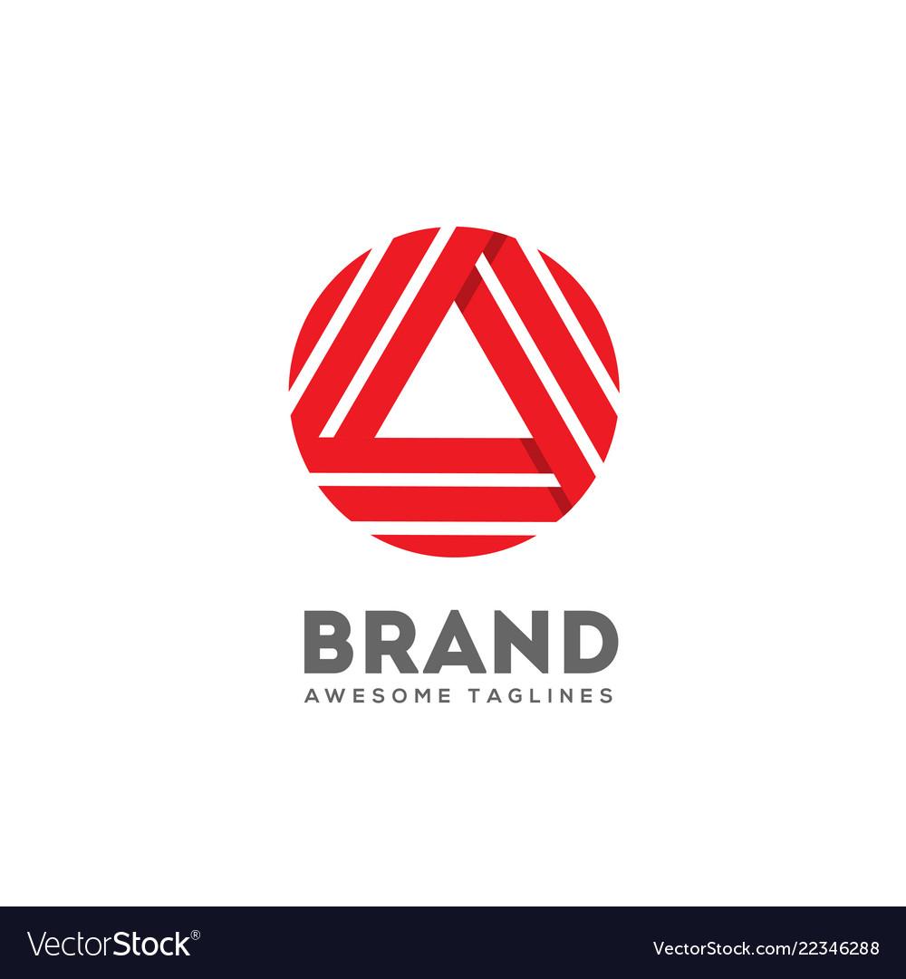 Triangle letter a logo concept
