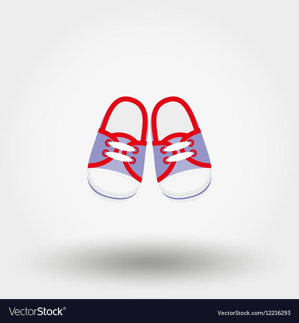 Baby booties sneakers vector image