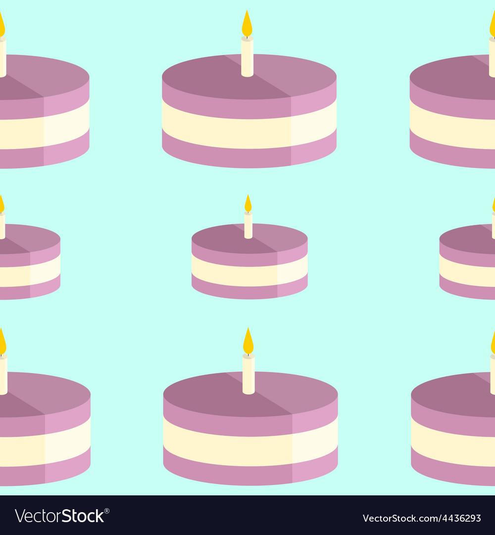 Birthday Cake Pattern Vector Image On Vectorstock