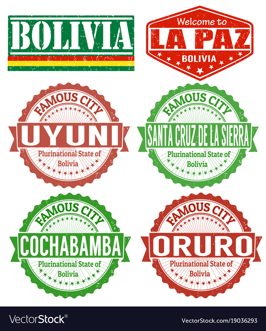 Bolivia cities stamps